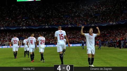 Un gol del Lyon en Turín evita que la fiesta sea completa en Sevilla