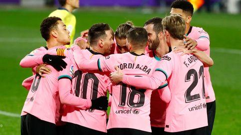 El Barça arrasa en Valladolid y Messi sonríe en el mejor partido de la temporada (0-3)