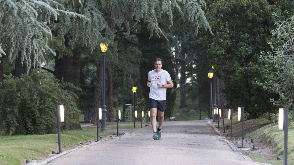 'Running' y reuniones: así es un lunes para Pedro Sánchez