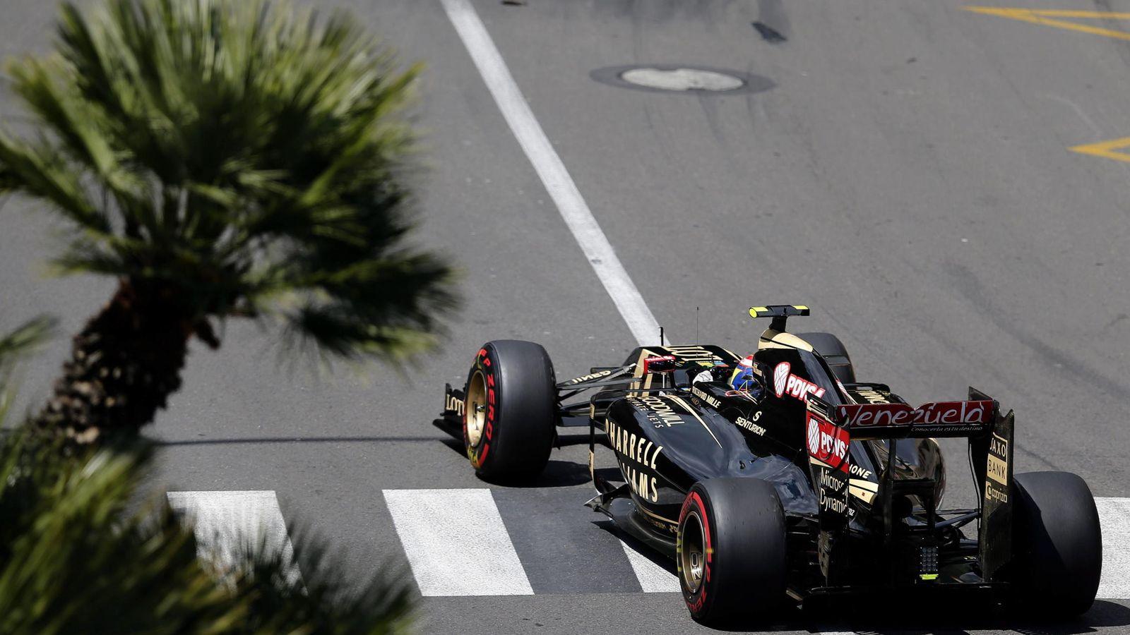 Foto: Lotus en Mónaco (Efe).