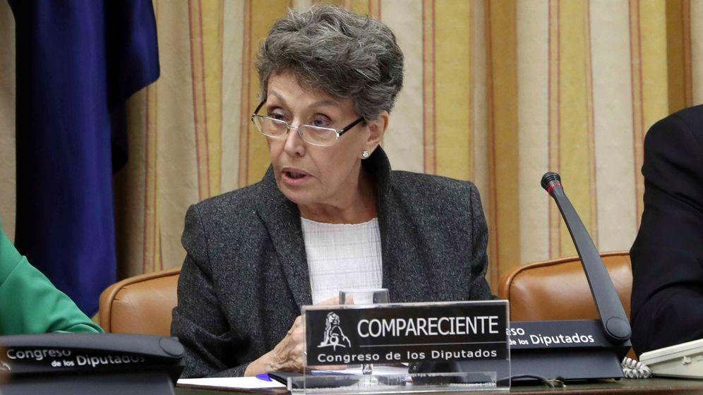 Foto: Rosa María Mateo, durante su comperecencia ante la Comisión Mixta de Control Parlamentario. (EFE).