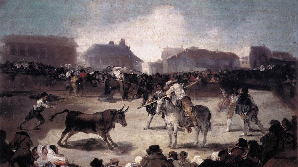 Foto: Una corrida de toros del pueblo, pintado por Francisco de Goya entre 1815 y 1819.