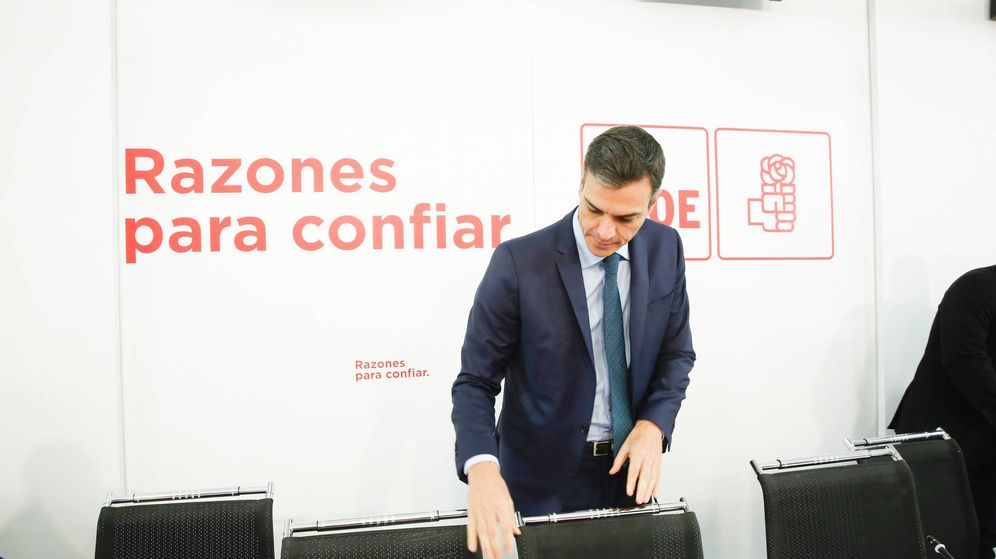 Foto: El presidente del Gobierno, Pedro Sánchez, antes del arranque de la reunión de la comisión ejecutiva federal del PSOE el pasado noviembre. (Inma Mesa | PSOE)