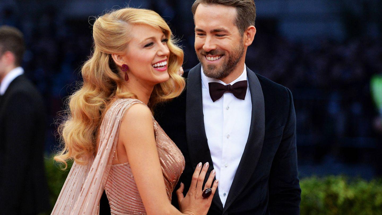 Blake Lively y Ryan Reynolds. (Getty)