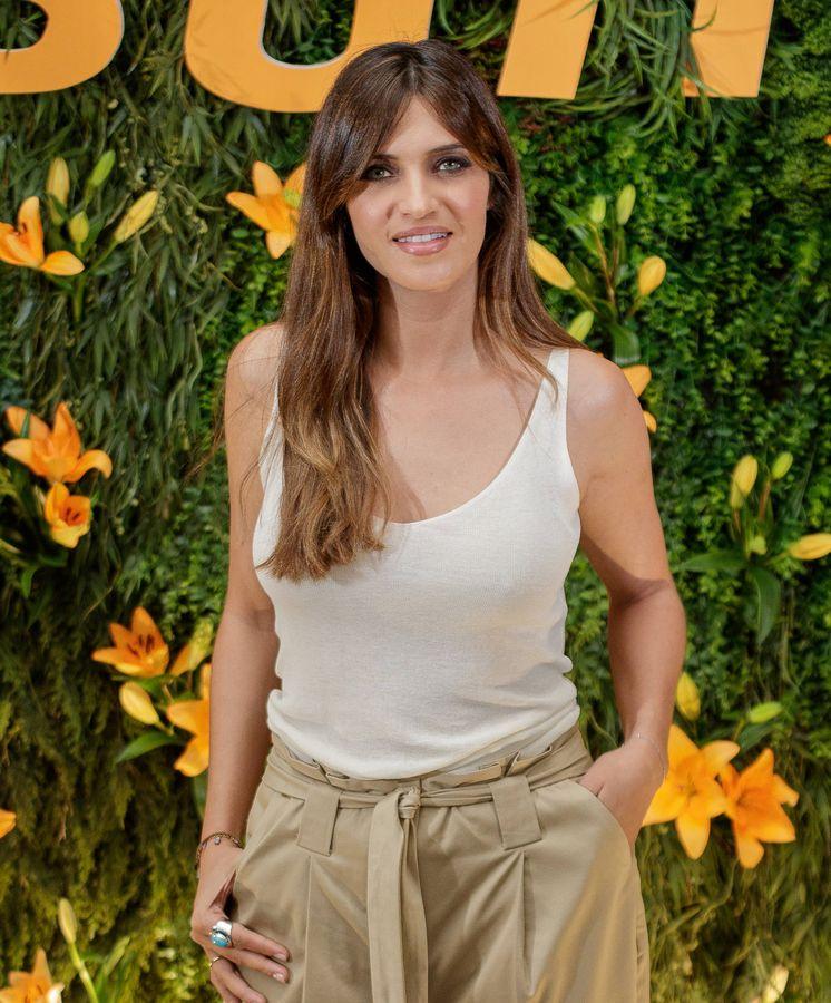 Foto: Sara Carbonero durante un evento promocional en Madrid (Getty)