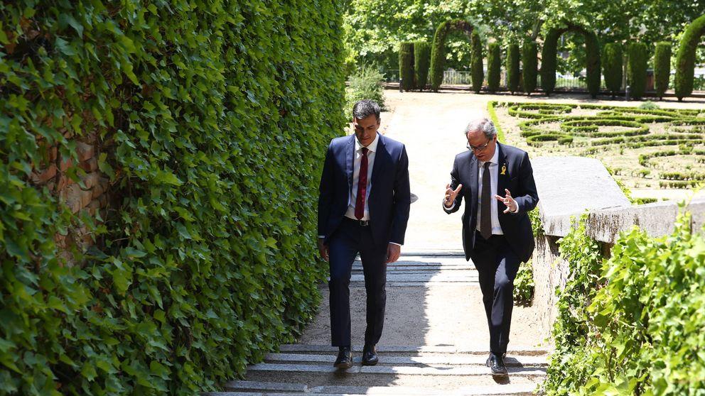 Sánchez enfría el conflicto catalán pero topa con Torra por la autodeterminación