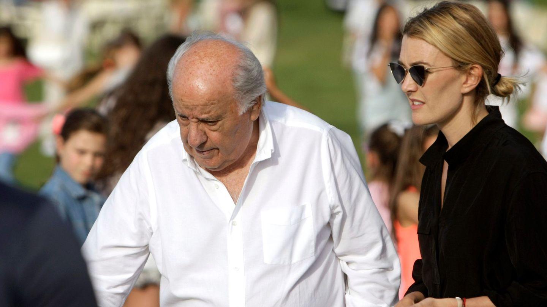 Amancio Ortega y su hija Marta, en 2019. (EFE)