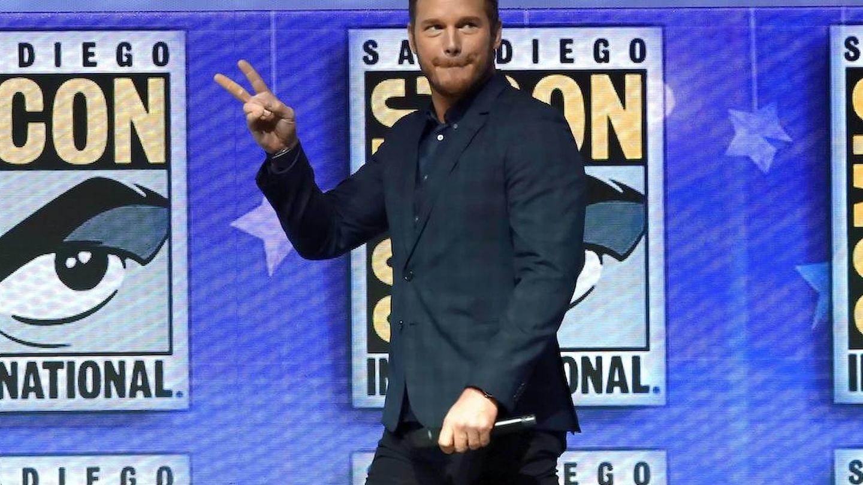 Chris Pratt en la Comic Con. (Getty)