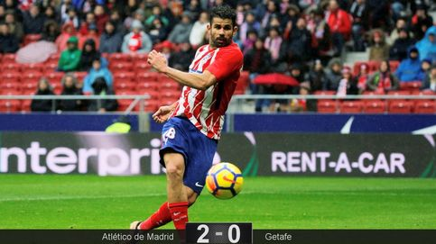 El Atlético disfruta de las dos versiones de Diego Costa: gol y expulsión absurda