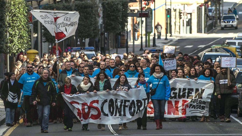 Trabajadores de Fagor, indignados con la recolocación en Mondragón