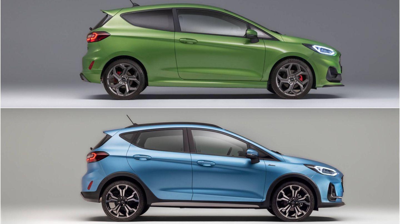 El Fiesta ST y el Fiesta Active (arriba y abajo respectivamente) son las dos versiones más enfocadas del modelo: el deportivo y el aventurero.