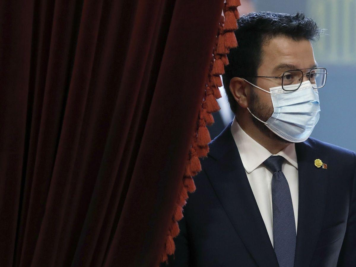 Foto: El presidente catalán, en el pleno del Parlament. (EFE)