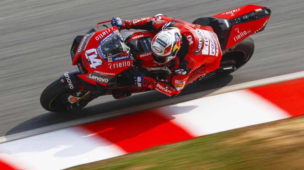 Foto: Andrea Dovizioso, durante los test de pretemporada de MotoGP. (EFE)