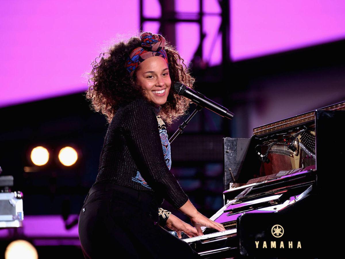 Foto:  Alicia Keys, al piano. (Getty)