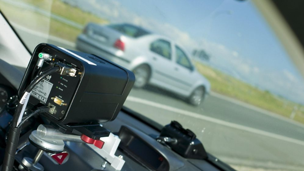 Foto: Radar de tráfico en acción.