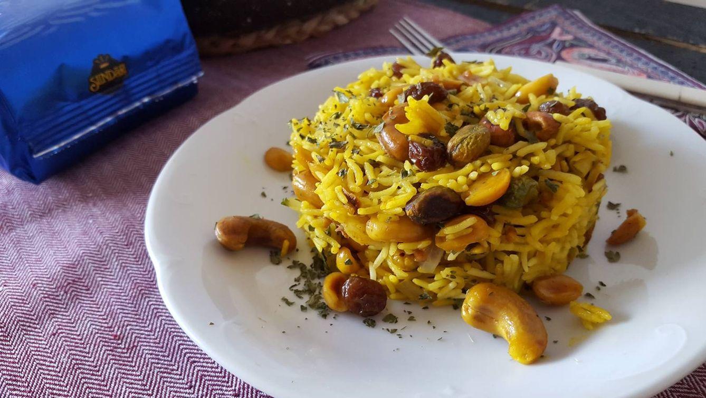 Foto: Arroz pilaf con pasas y frutos secos. Para viajar a Oriente