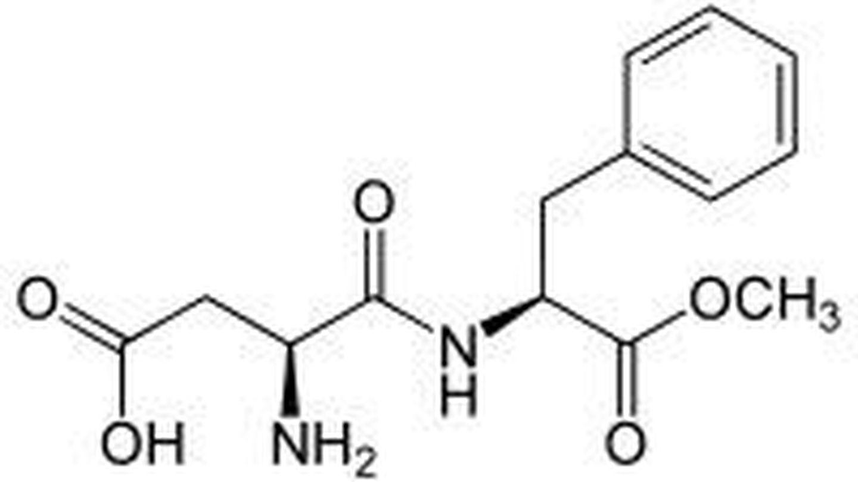 Molécula de aspartamo.