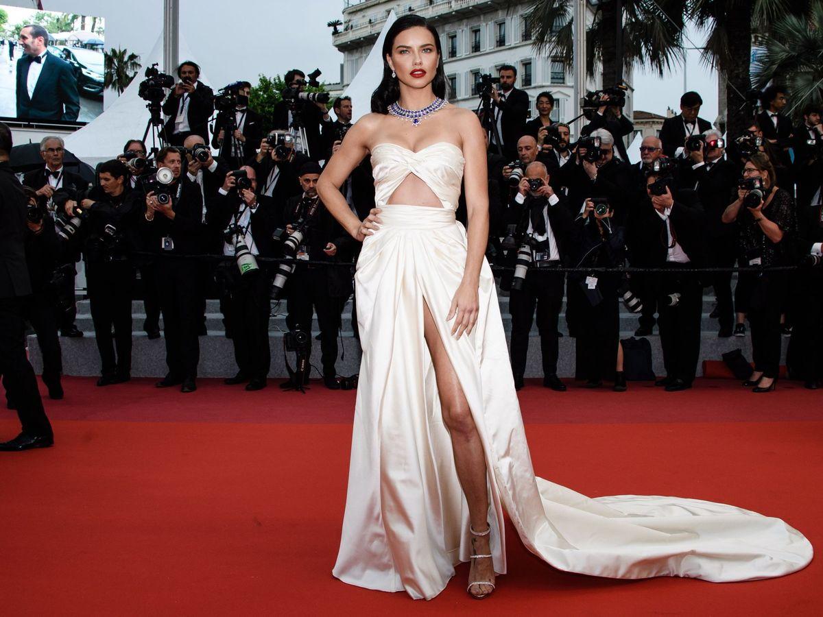 Foto: Adriana Lima, en el festival de cine de Cannes. (EFE)