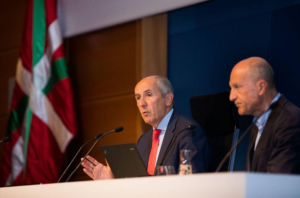 Foto: Josu Erkoreka, este jueves, en la presentación de la Memoria de la comisión de Ética Pública del País Vasco. (EC)