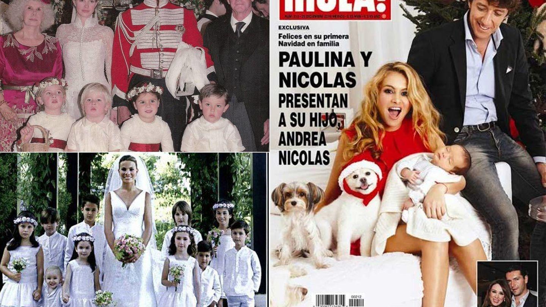 La boda de Cayetano, Carla Goyanes y Paulina en 'Hola' con ropa de La Oca Loca