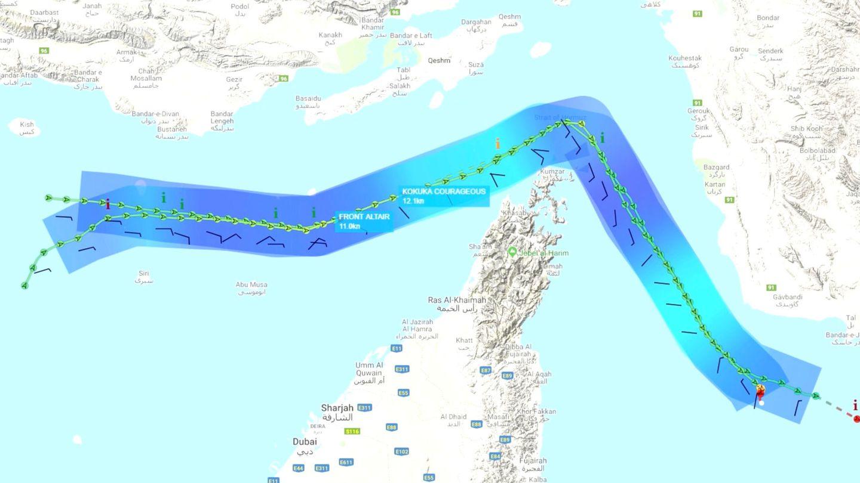 Zona en la que navegaban. (Reuters)