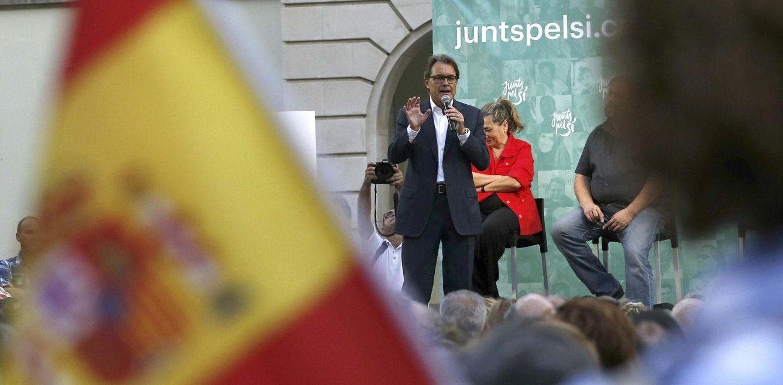 Foto: Artur Mas en un acto de Junts Pel Sí en Castelldefels. (EFE)