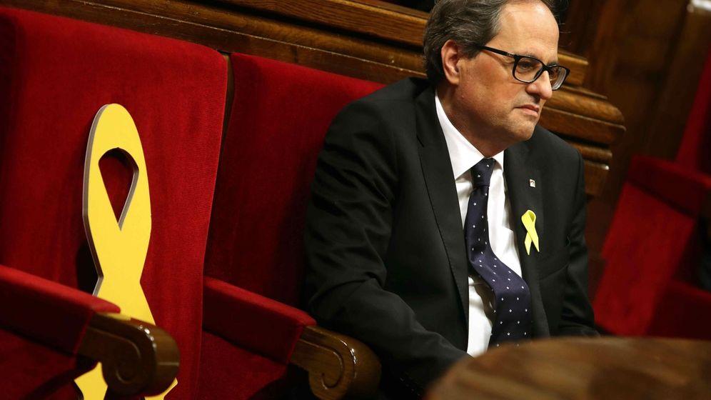 Foto: Quim Torra en el Parlament. (EFE)
