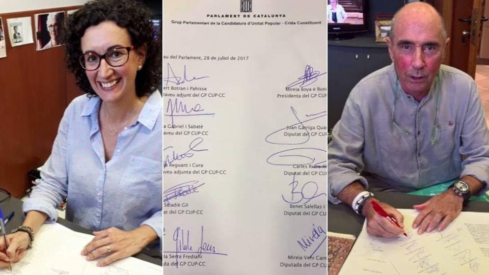 Foto: JxSí y la CUP registran en el Parlament la ley del referéndum del 1 de octubre. (TV3)