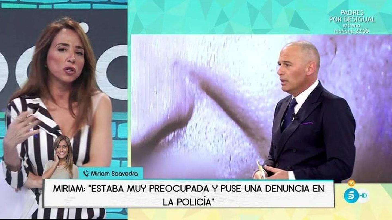 María Patiño, tratando la desaparición de Lozano en su programa.
