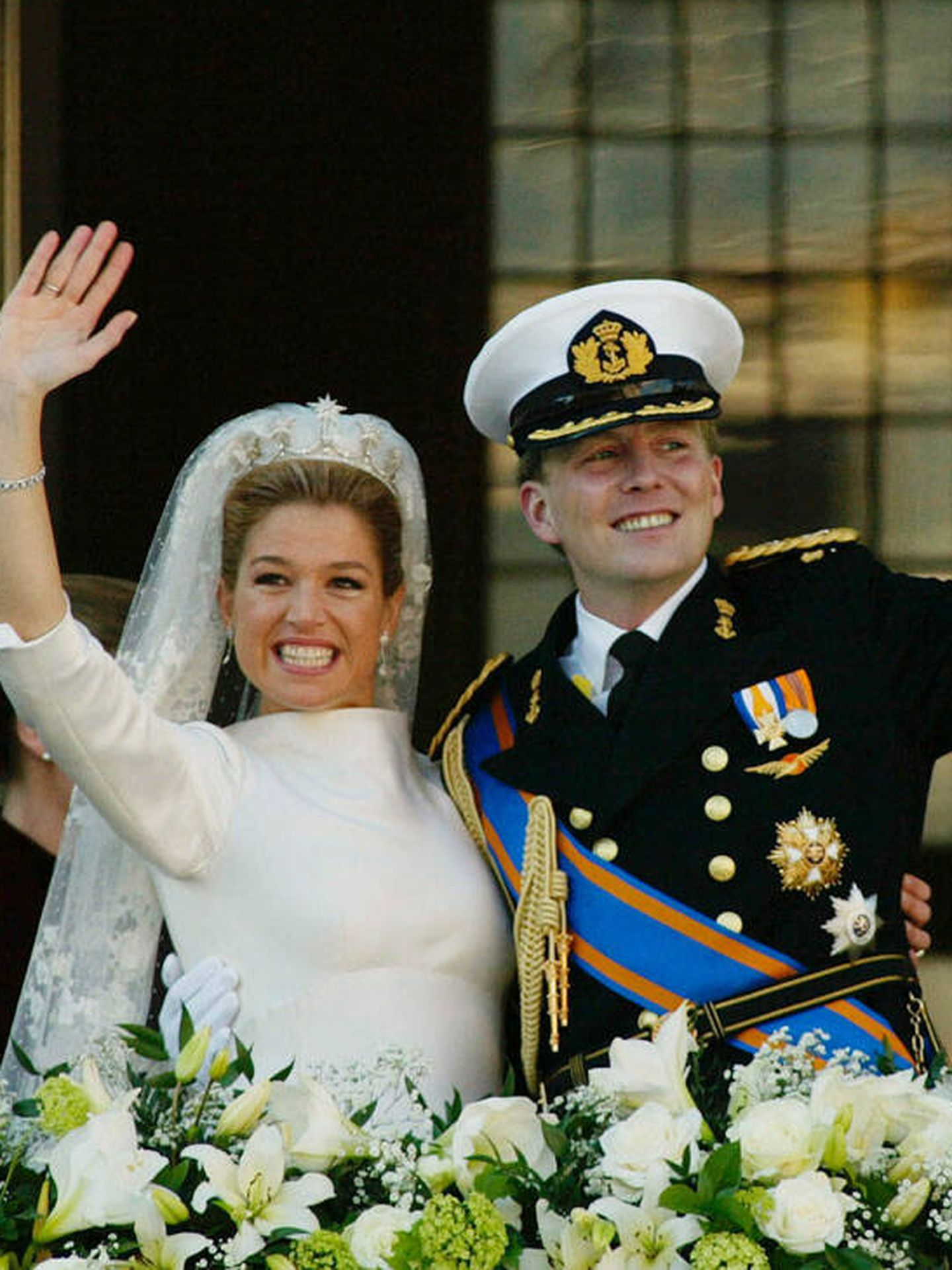 Los reyes Máxima y Guillermo de Holanda. (Getty)