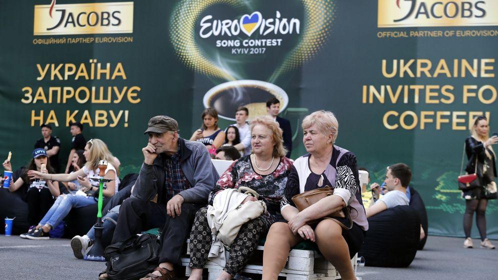 Foto: La expectación es máxima en la 'fan zone' de Eurovisión en Kiev (Ucrania)