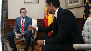 Rajoy-Sánchez-Rivera… y la pelota voló de tejado en tejado