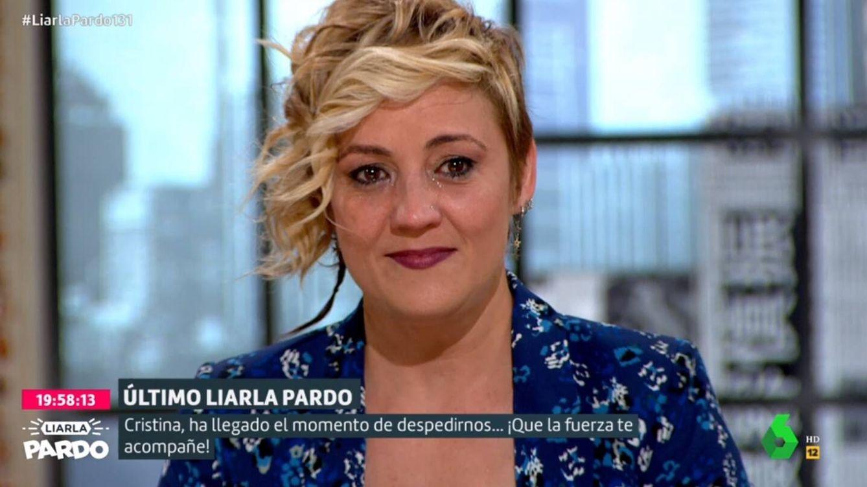 Cristina Pardo se rompe con su mensaje de despedida en su último programa