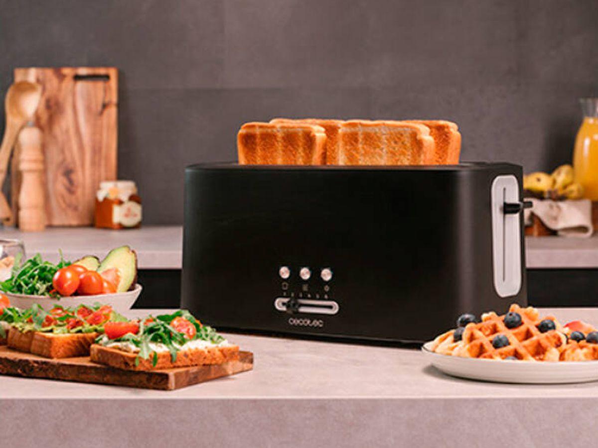 Foto: La manera de conseguir la tostada perfecta en pocos minutos (Cecotec)