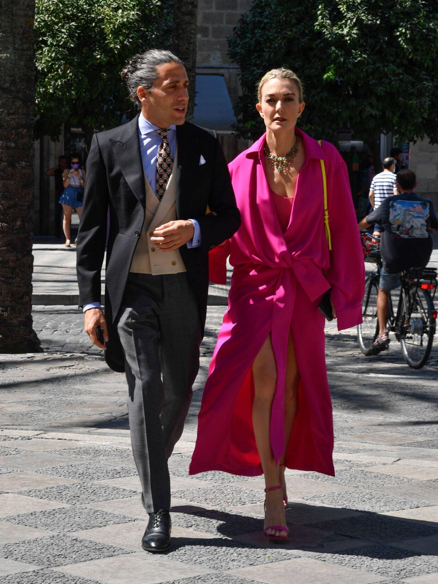 Carlos Torretta y Marta Ortega, en la boda de Carlos Cortina y Carla Vega-Penichet. (Gtres)