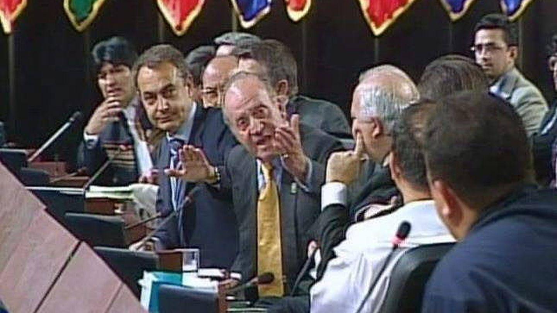 Imagen de archivo de la cumbre en la que el rey Juan Carlos espetó a Hugo Chávez, '¿por qué no te callas?'. (EFE)