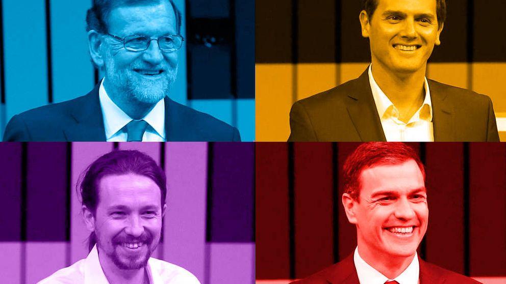 Iglesias y Rajoy, los que generan más rechazo pese a ir por delante en estimación de voto