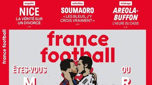 El beso fraternal de Cristiano Ronaldo y Messi en la última portada de France Football