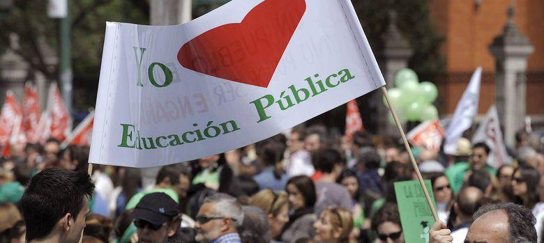 Foto: Imagen de la última huelga en el sector de la educación pública. (EFE)