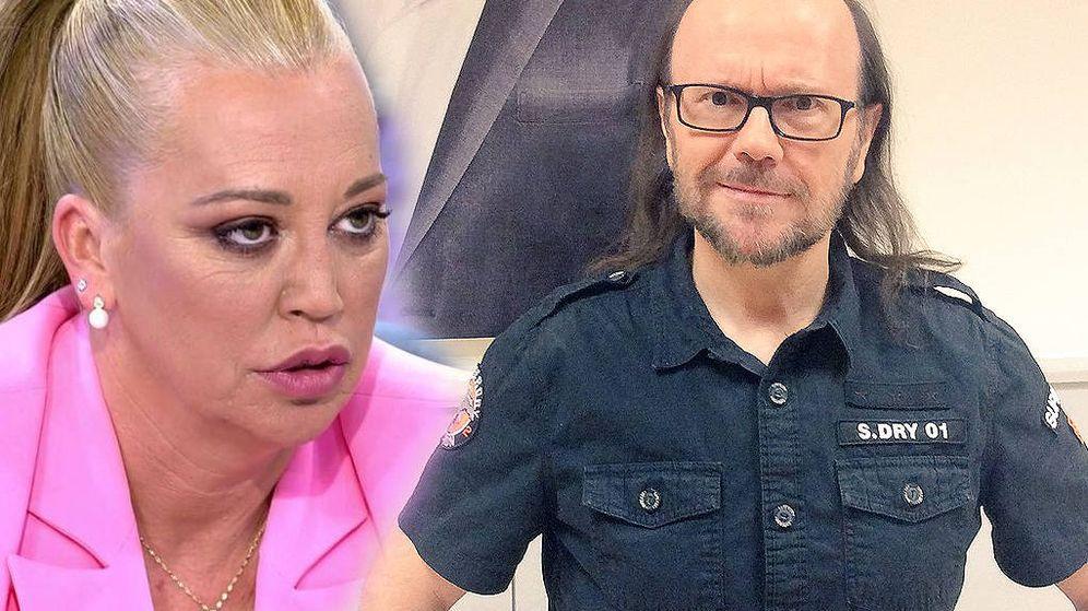 Foto: Belén Esteban y Santiago Segura, en 'Sábado Deluxe'. (Telecinco)