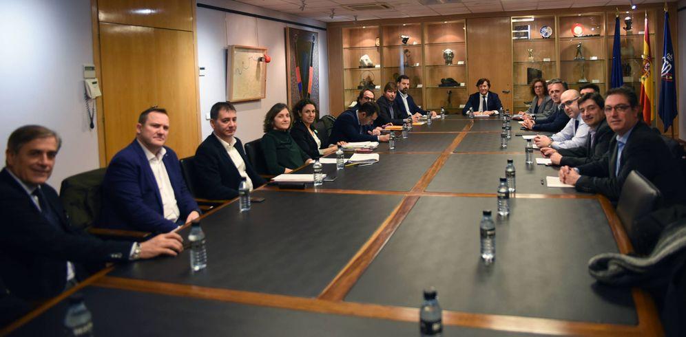 Foto: Imagen de la reunión entre ACB y ABP celebrada este jueves en la sede del Consejo Superior de Deportes. (CSD)