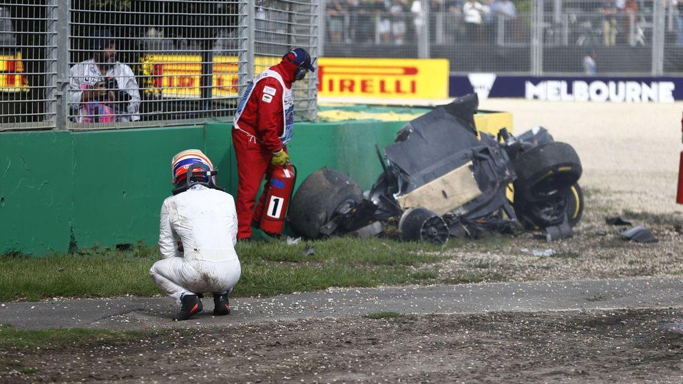 Alonso gastó una vida en  su peor accidente: Ves el cielo, la tierra, cielo...