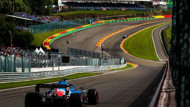 Alpine ofrecía un magnífico ritmo en Spa, con la cámara en el casco de Alonso como gran aliciente