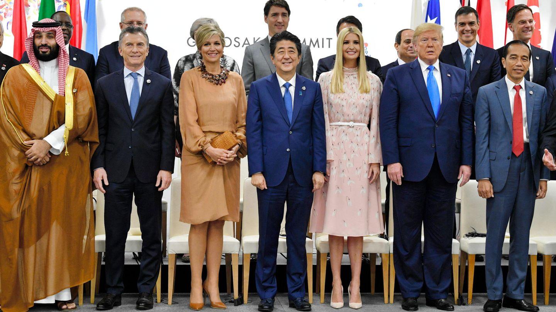 La reina durante el encuentro. (EFE)