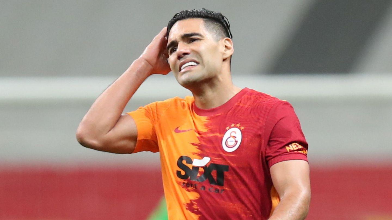 Radamel Falcao, en su último partido con el Galatasaray. (Reuters)