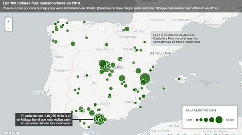 Dónde están y cuántas multas ponen cada año los más de 300 radares fijos