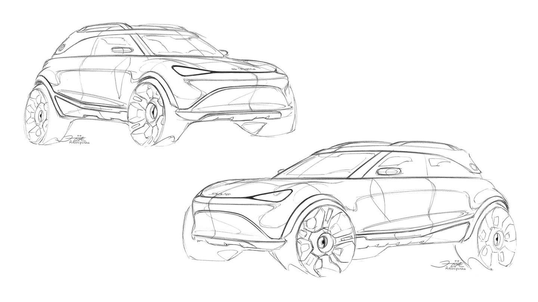 Primeros bocetos publicados del Smart EQ que será exhibido en Múnich en septiembre. Se sabe que es eléctrico, que es SUV... y poco más.