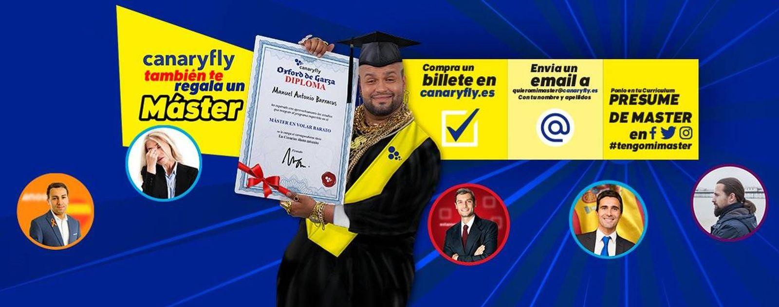Foto: Imagen promocional de la campaña (Canary Fly)