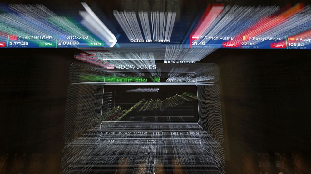 Foto: Monitor de la bolsa de Madrid. (EFE)