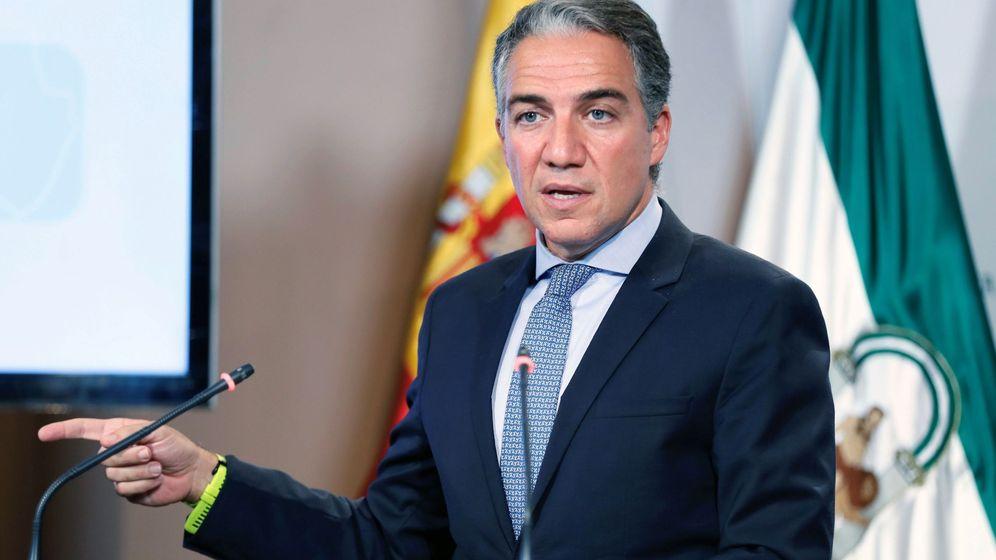 Foto: El portavoz del Gobierno andaluz, Elías Bendodo. (EFE)